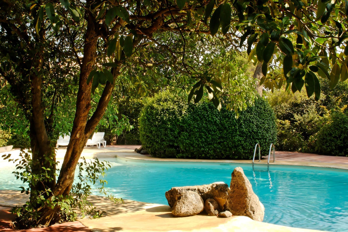 One of the pools shared by Beaumont villas