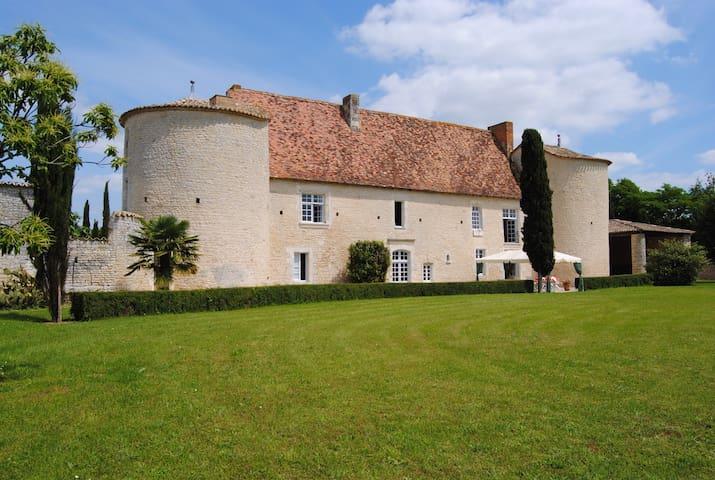 Chambre dans manoir historique  - Montignac-Charente - Castillo