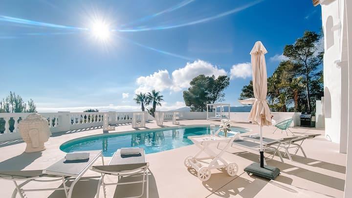 NEW Ultra rare Ocean view Villa 10PAX  Ibiza Town