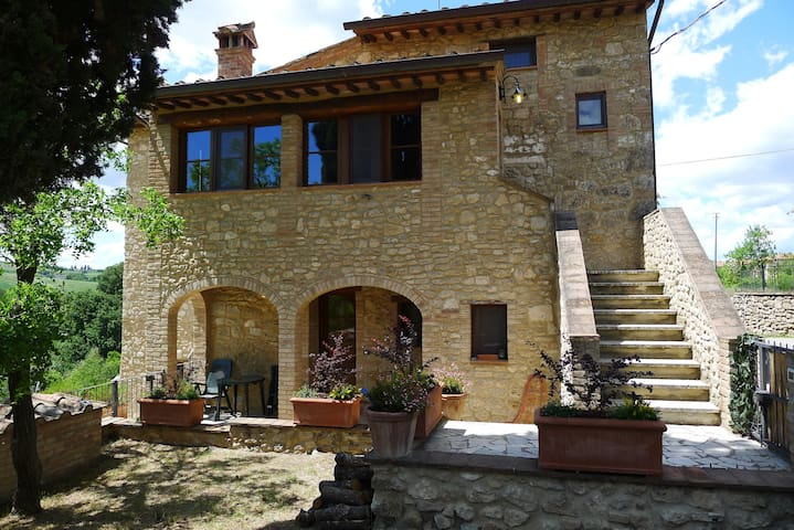 A typical Tuscany flat in a stone cottage - Asciano - Condominium