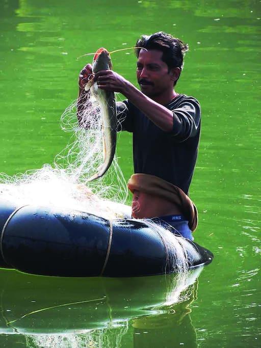 Fishing in the Tamas River