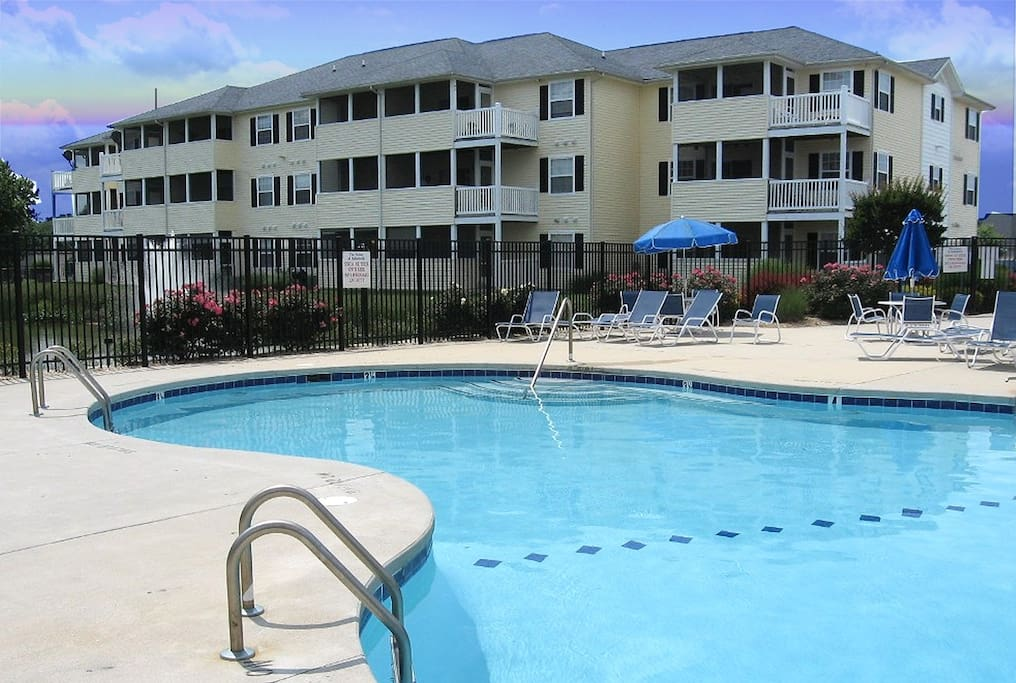 Relax after a day at Rehoboth's Beaches at our private community pool.