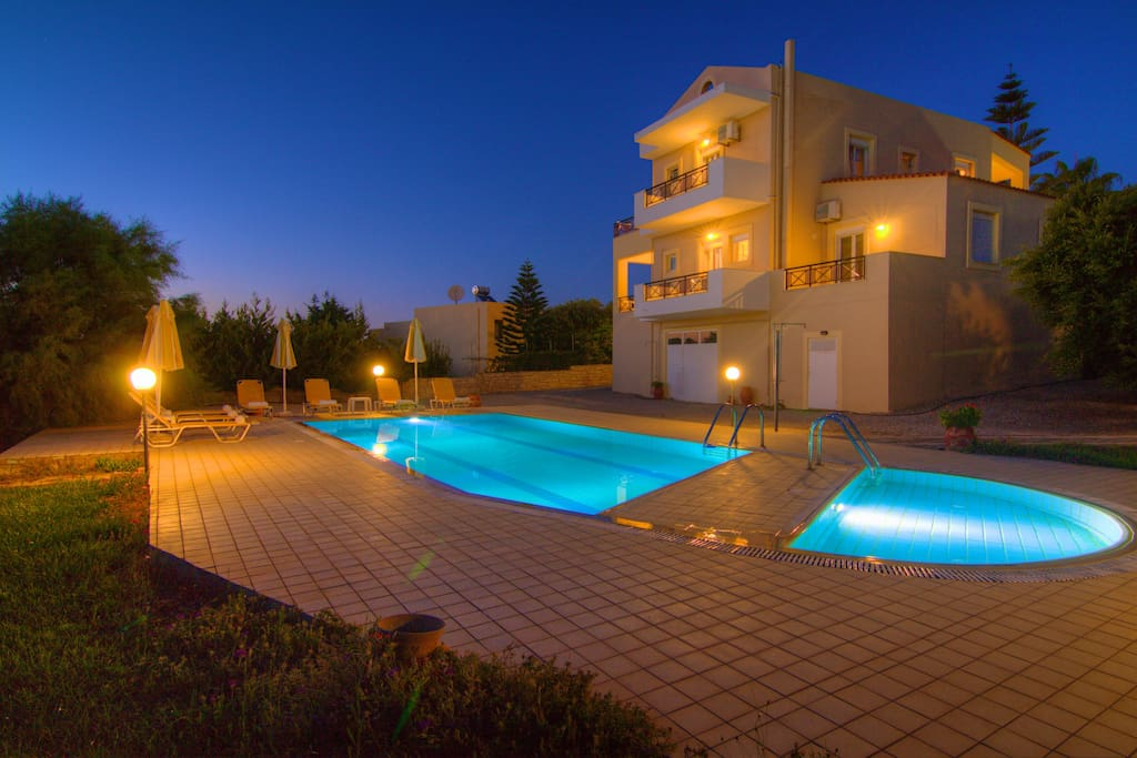 Swimming pool and barbecue area