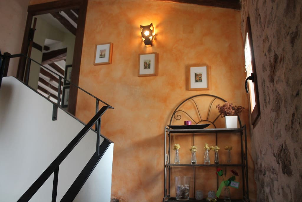 Staircase to upper floor.