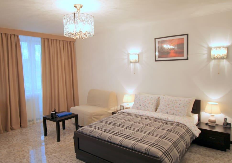 Comfortable bed / Удобная кровать