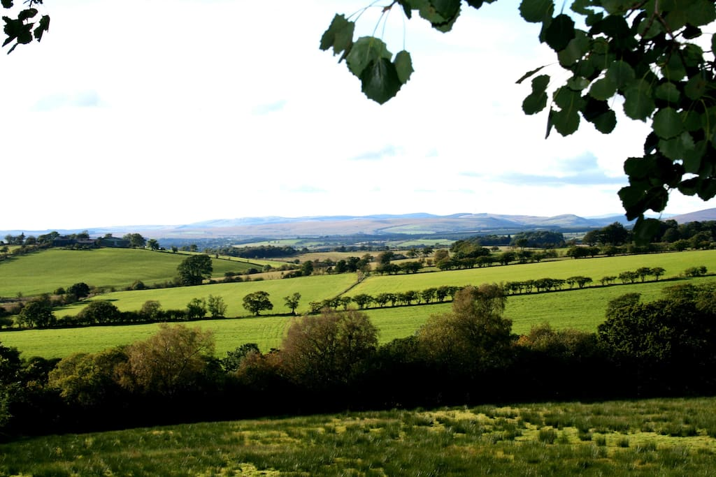 The views from the garden. Perfect place to sit with a glass of wine or a beer and take in the rolling countryside hills