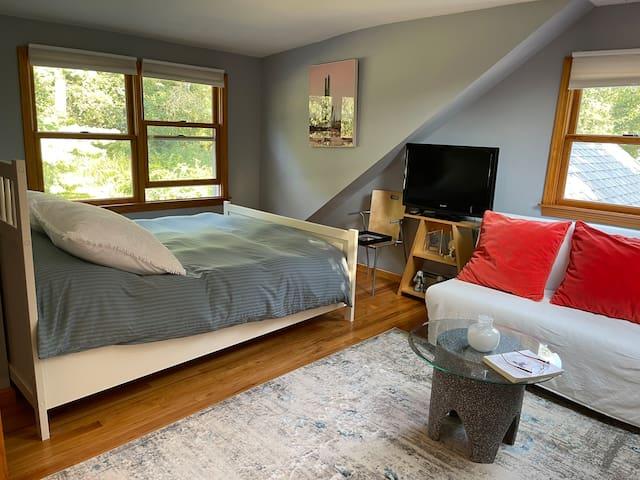 Second floor bedroom- Queen plus foldout twin sofa