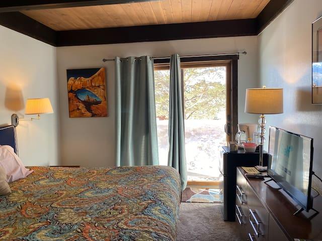 Ski in ski out condo lock-off master bedroom
