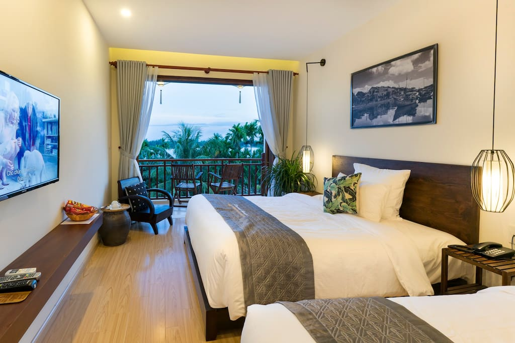 Riverside Hamlet Hoi An - Two double bed room with two private balconies