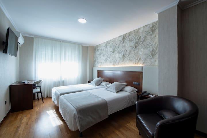 Habitación 2 camas Camino de Santiago a Finisterre