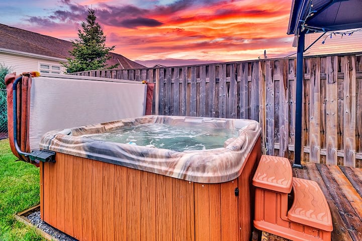 Executive home with hot tub