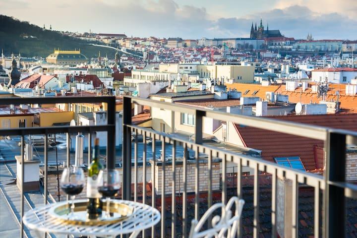 Steffany's court  ♦ Prague centre studio TOP view