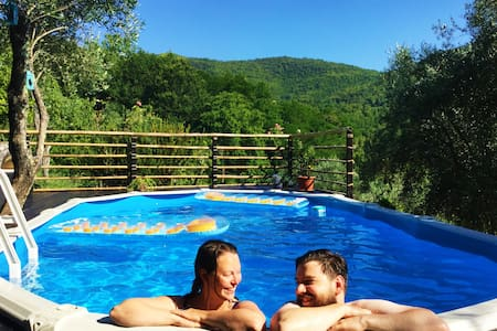 2 double rooms in historic Tuscan house with pool! - Cerignano