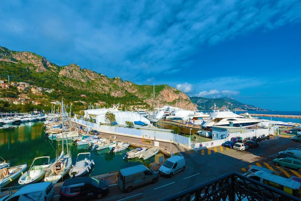 TRIPLE VIEW FROM THE TERRACE.  SEA, MOUNTAIN AND MARINA