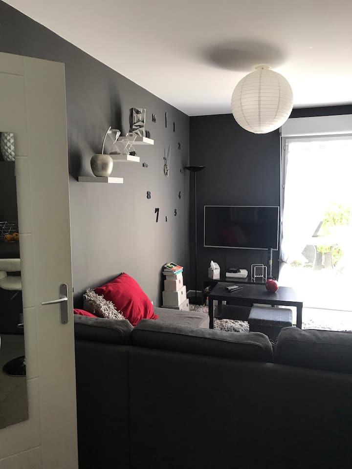 Appartement 40m2 avec terrasse situé en rdc