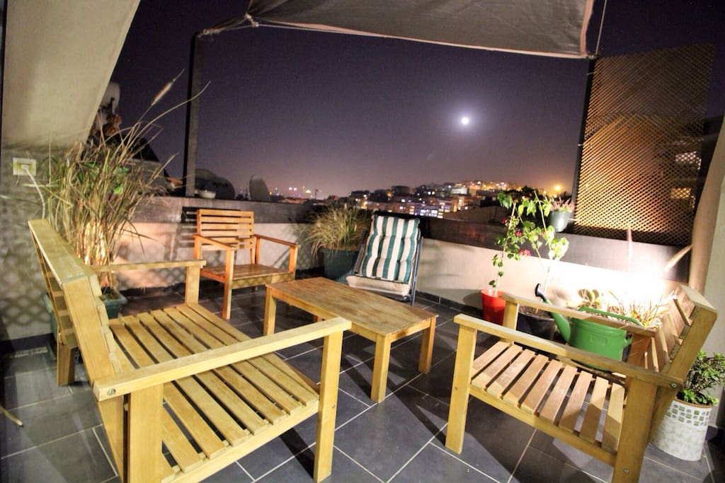terrace and seating group