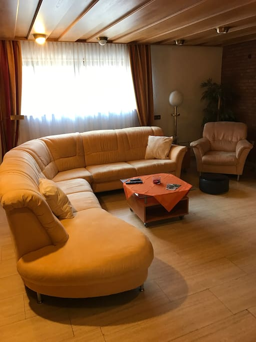 Living room with Sofa bed - it pulls out into a double bed