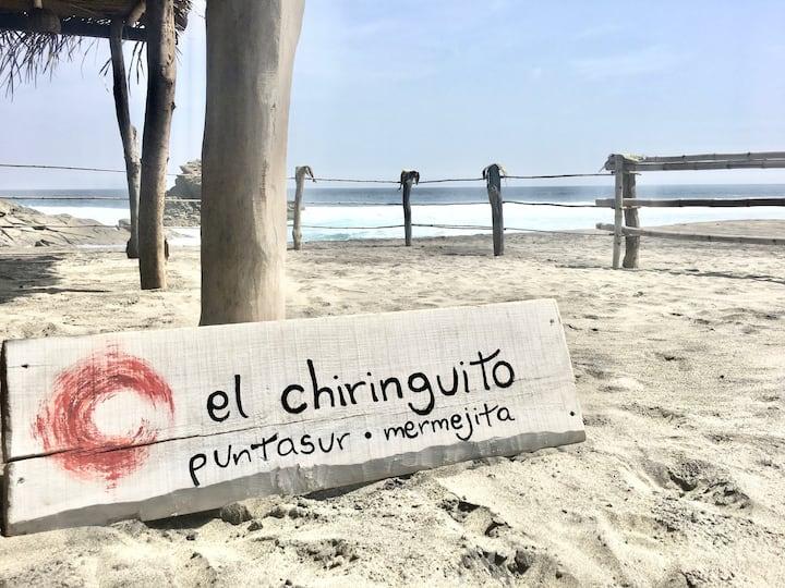 CUIXE, Cabaña privada en Playa Mermejita