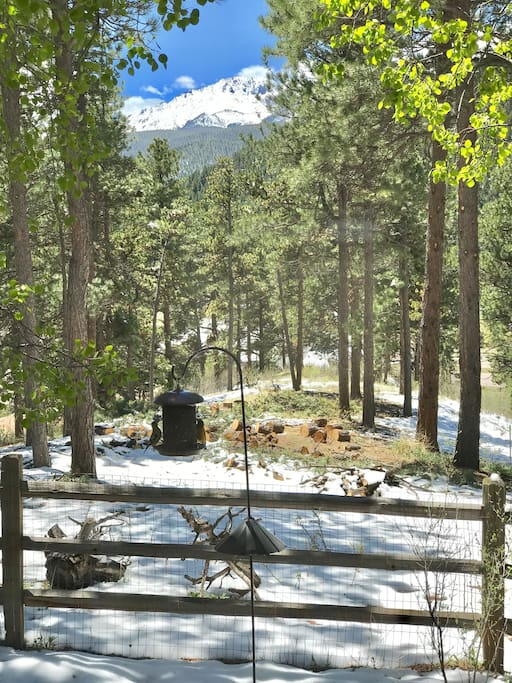 Your view of Pike's Peak from the sun room!