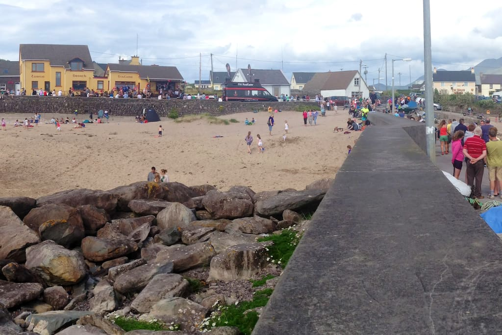 Beach in front of the Pub