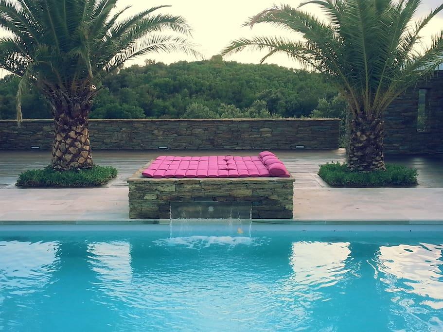 piscine, solarium