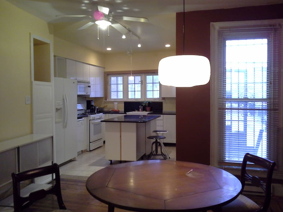Dining area w/view of kitchen