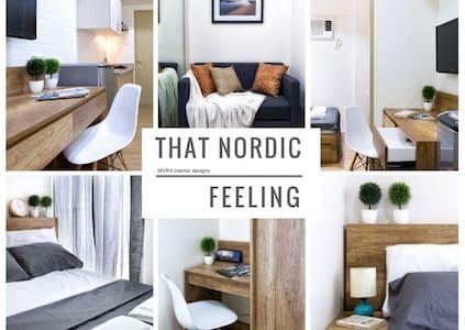 Nordic style 1-bedroom flat w/ balcony - Makati - Lyxvåning