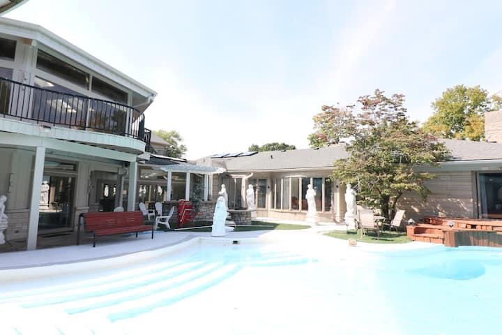 Kessler Mansion Estate-Ranch House Game Room Pool