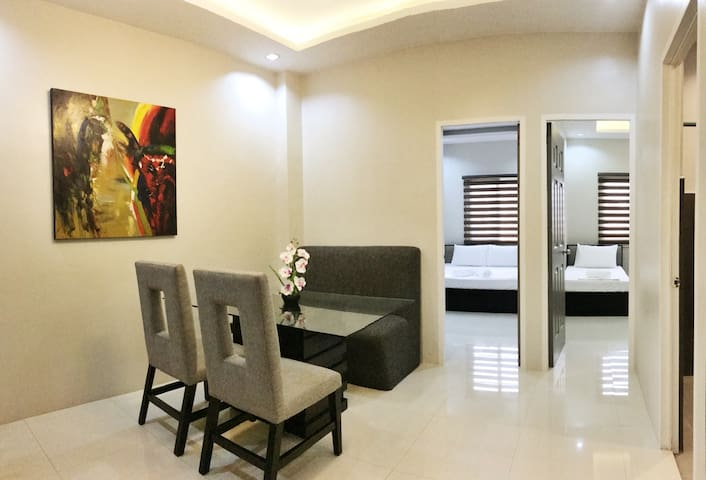Living/Dining room for your rest & relaxation after a day of being out in Cebu.