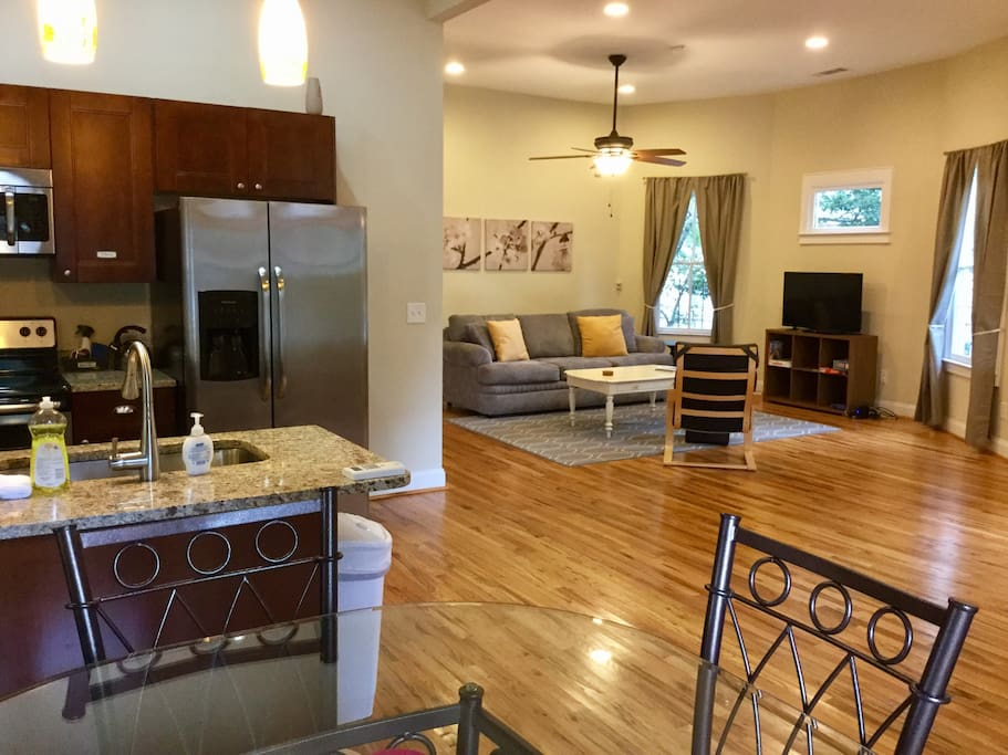Large, open-concept space, perfect for spending time together