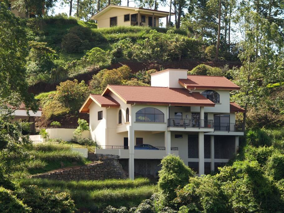 Back of house, facing ocean.