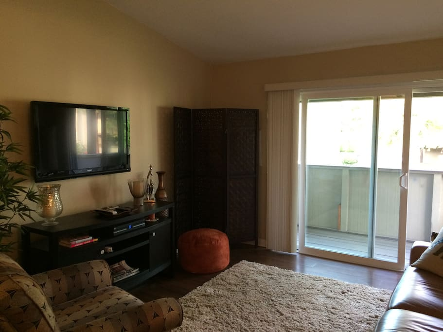 Living room, has A/C, Direct TV, reclining couch.