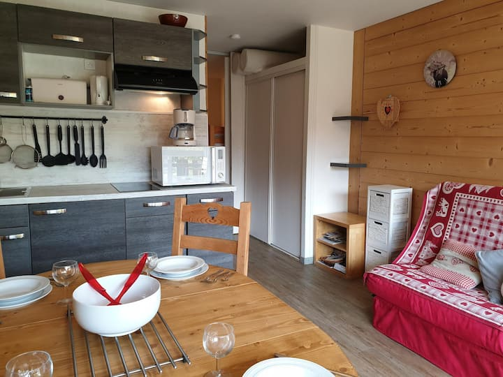 Nice apartment in the center Morzine and 100m from the slopes