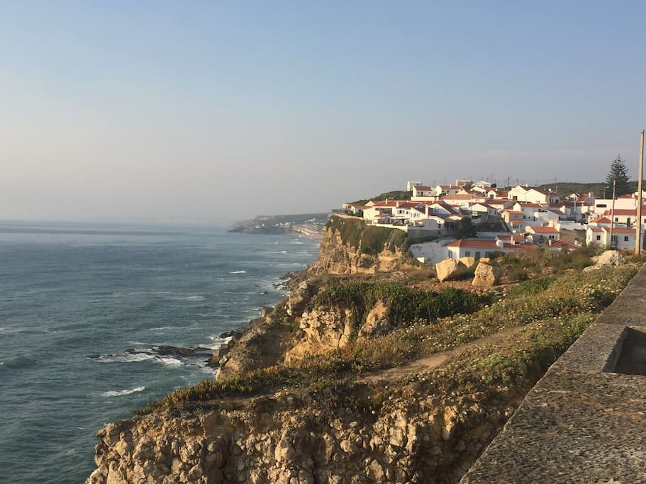 Azenhas do Mar with Magoito at the left end