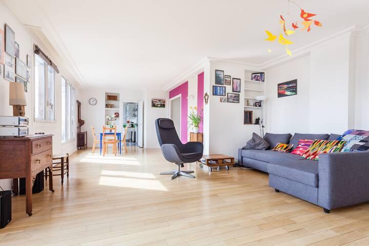 Grand appartement lumineux familial - Asnières-sur-Seine - Apartment
