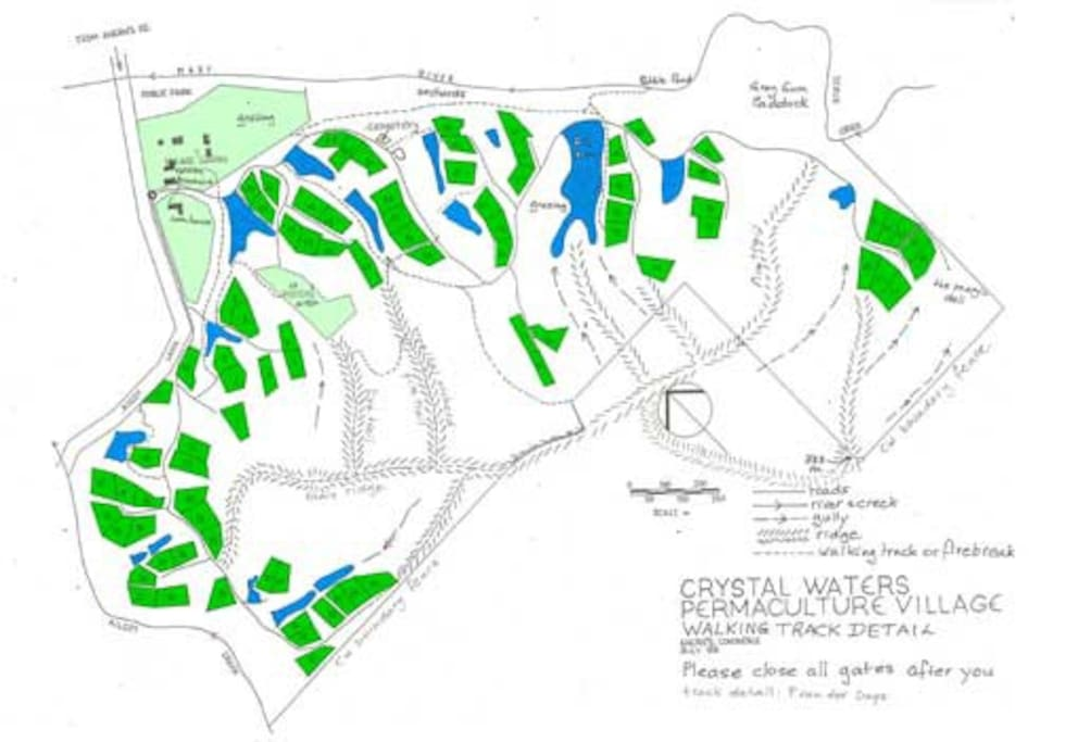 Crystal Waters Eco Village Map