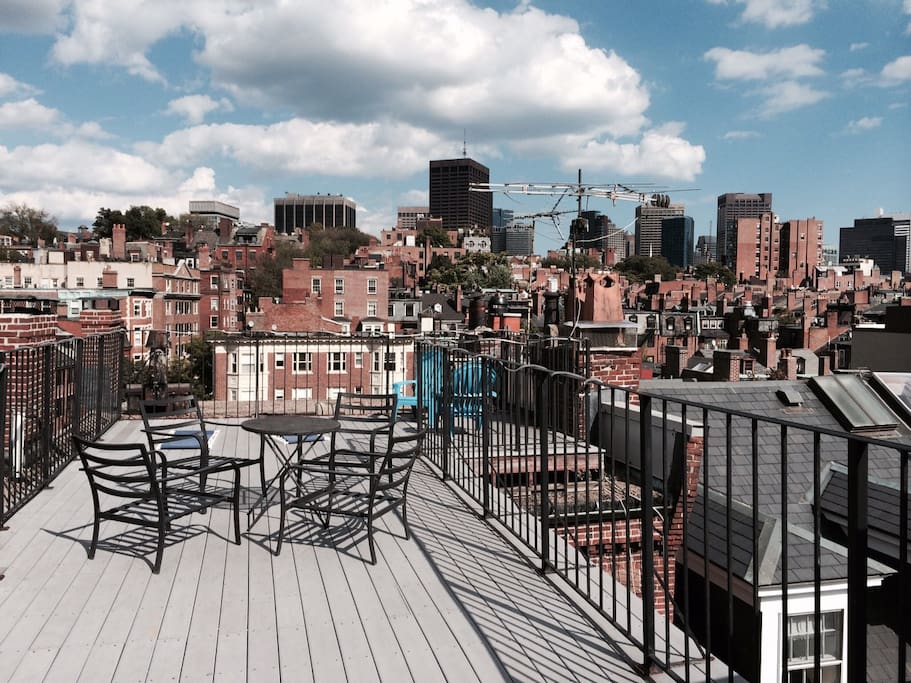 Panoramic view facing east over Beacon Hill!