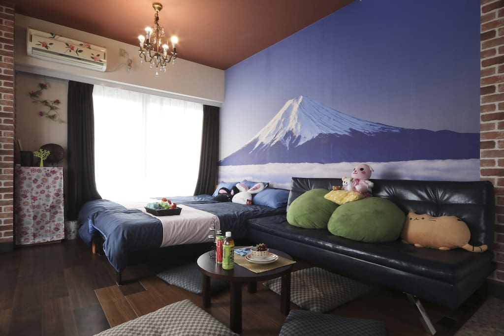 room with Mountain Fuji 房間也可欣賞到富士山