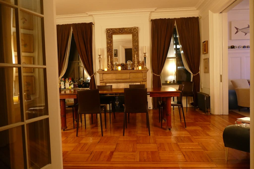 Dining room off the entry.