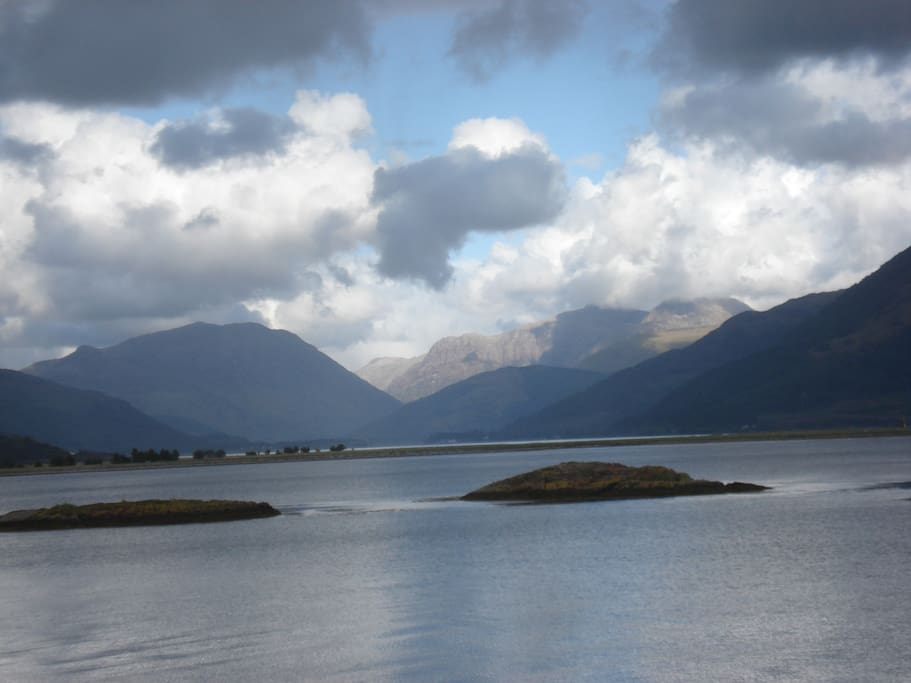 The view towards Glencoe and Ballachulish