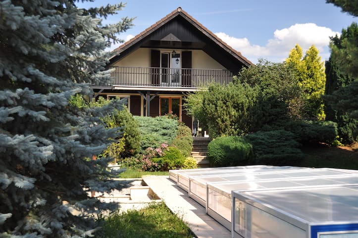 Villa house pool border Geneva  - Viry - Huis