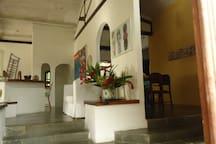 lateral da sala de estar