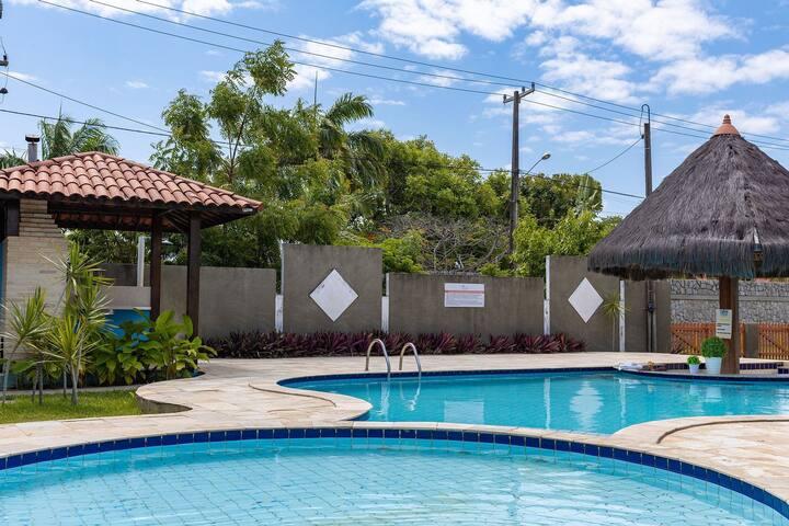 Casa Praia dos Carneiros 4Qts - Condomínio com Piscina - 12 pessoas - Pet Friendly