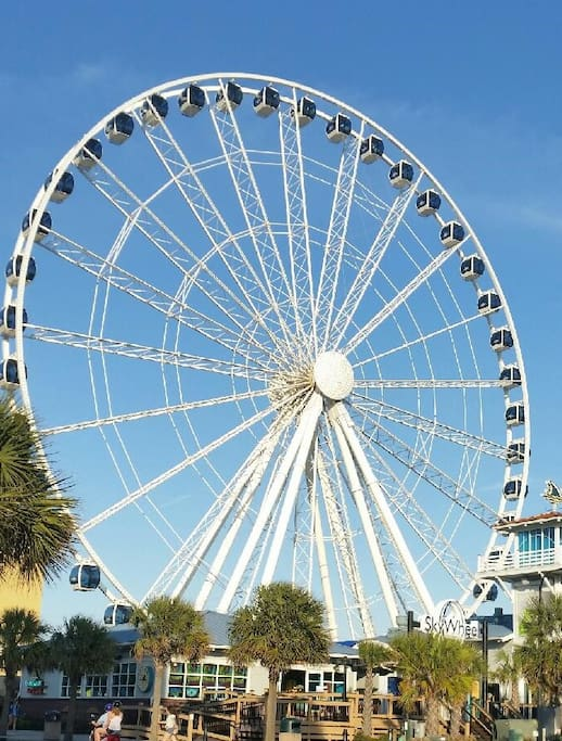 Stop by the Sky Wheel and get a whole new perspective of the city.