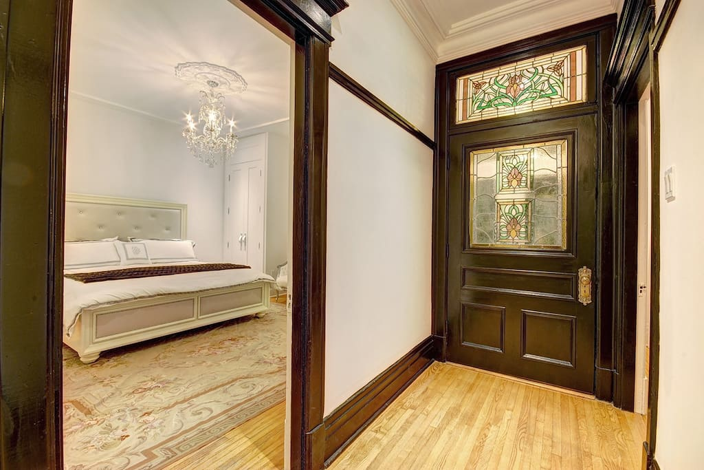 100 year old stain glass door