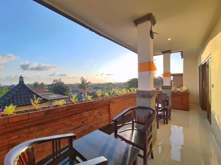 KUBU TAMAN - affordable room w/Ubud city view