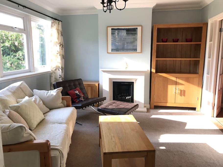 Sitting room, nice and sunny