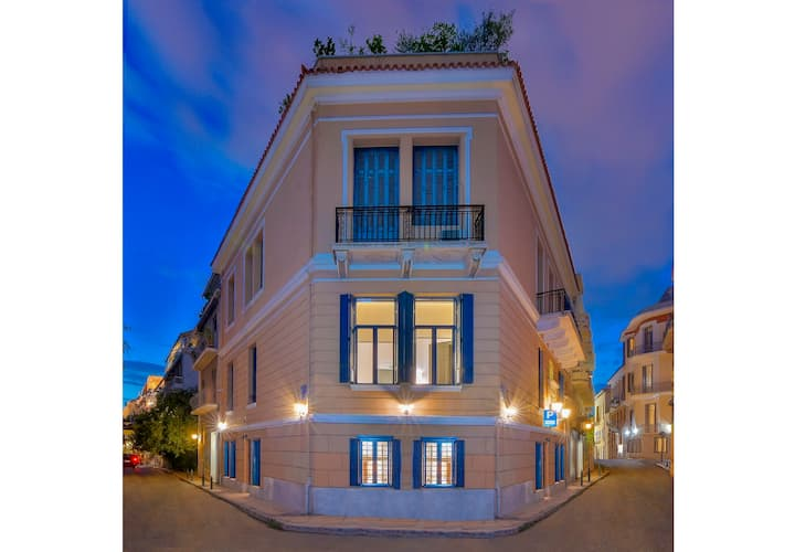 Art Pantheon Townhouse (7 Bdr) • Acropolis area🏛️