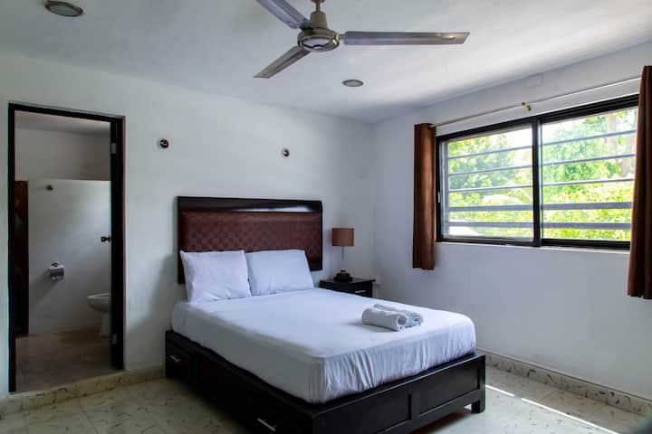 6 Spacious/bright Double Room near Paseo Montejo