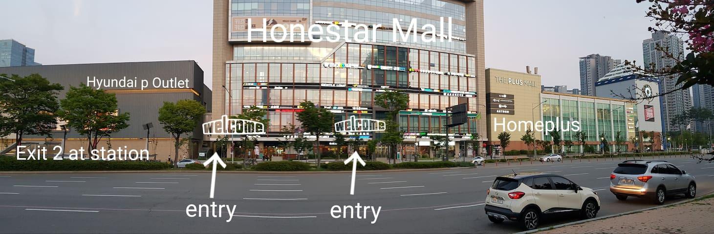 SONGDO HOTPLACE 최고의 위치 복층 사계절 눈비 상관없이 쇼핑 관광 축제 한마당
